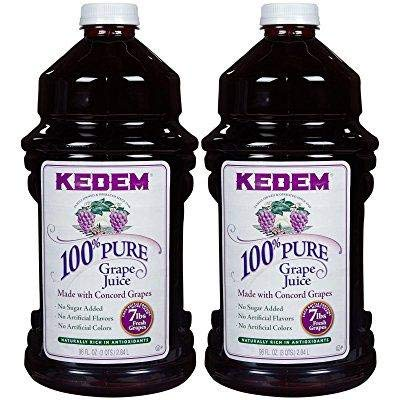 Kedem Concord Grape Juice, 100% Pure Juice, 96 oz (2 Pack) No Sugar Added, No Artificial Flavors or Colors