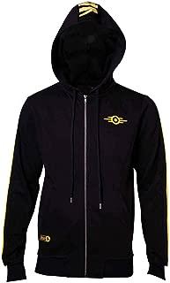76 Hoodie Vault-Tec Logo Official Mens Black Zipped