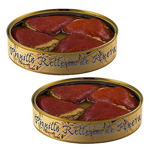 Conservering van paprika de Piquillo gevuld met Atun eieren, blik van 280 g – conserveer het opruimen (verpakking met 2…