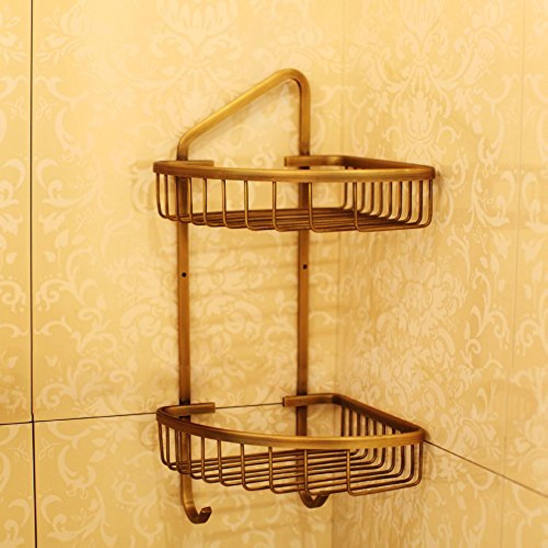 Triangle racks bathroom shelf wall mount bronze toilet bathroom storage high 41cm
