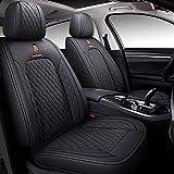 BABYBLU Leather Car Seat Covers, Faux Leatherette Automotive...