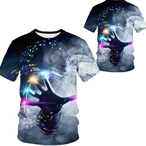 Camiseta para Hombre,Hip Hop Camisetas Impresas En 3D De Gran Tamaño,Camisetas Mágicas Personalizadas Camisetas De Manga Corta Tops Streetwear Casual para Adolescentes Al Aire Libre De Verano,Peque