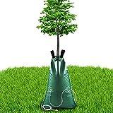 Qsnn Riego de árboles, bolsa de agua de 75 litros de alta capacidad, saco de árbol, riego, riego automático por gotas, plegable, PVC, bolsa de riego para plantas y jardines de jardín, sistema de riego