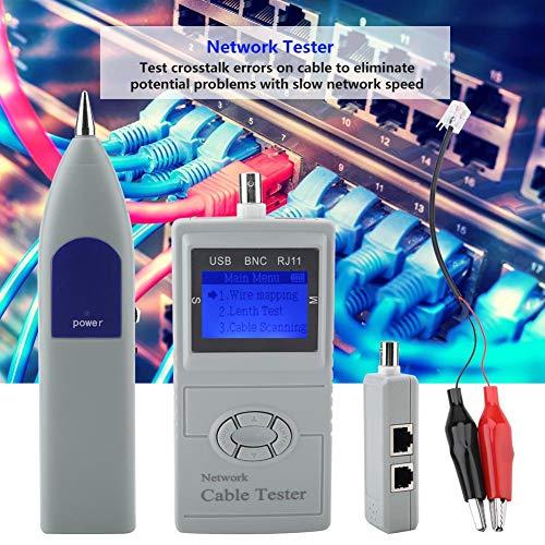Kabeltester, SML-8868 Digitaler Kabeltester Handheld-Telefonkabel-Netzwerklinien-Tracker
