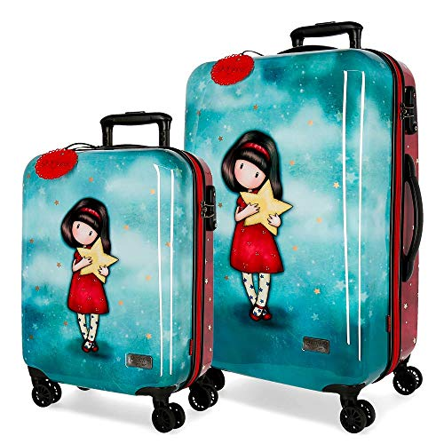 Santoro Gorjuss My Star Juego de maletas Multicolor 55/67 cms Rígida ABS Cierre TSA 97L 4 Ruedas Dobles Equipaje de Mano