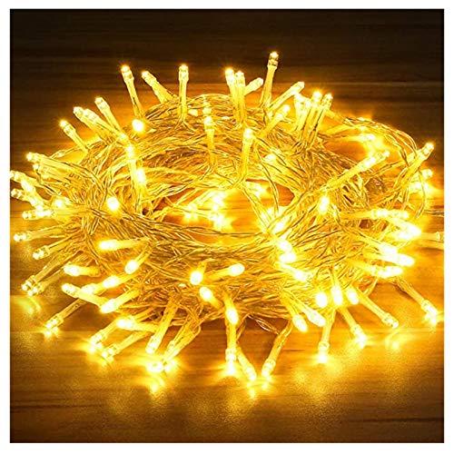 Mtawou - Cadena de luces LED decorativas, 15 metros, 120 luces, funciona con pilas, para la decoración de fiestas grandes