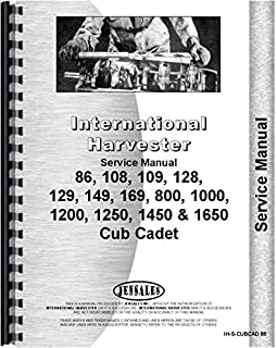 International Harvester Cub Cadet 1650 Lawn and Garden Tractor Service Manual (Chassis)
