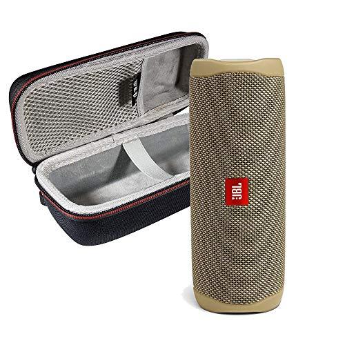 JBL FLIP 5 Portable Speaker IPX7 Waterproof On-The-Go Bundle with WRP Deluxe Hardshell Case (Sand)