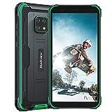 Blackview BV4900 (2020) Android 10 4G, Teléfono Móvil Resistente, 3 GB de RAM, 32 GB de ROM, Cámara Impermeable de 8 MP + 5 MP, Batería de 5580 mAh, Doble SIM GPS NFC IP68, Verde