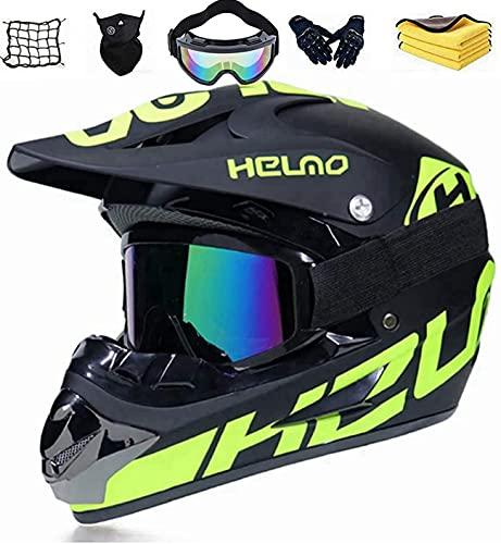 Casco integral de moto infantil para bicicleta de montaña con homologación D.O.T,...