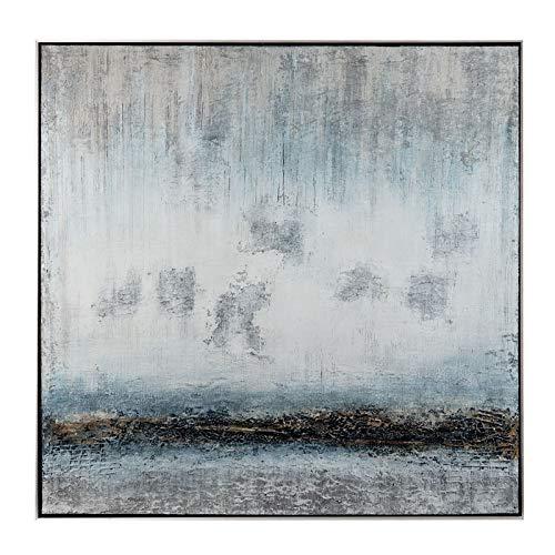 L'Oca Nera 1Q145 Tableau Acrylique sur Toile avec Cadre 100 x 100 cm Bleu Ciel