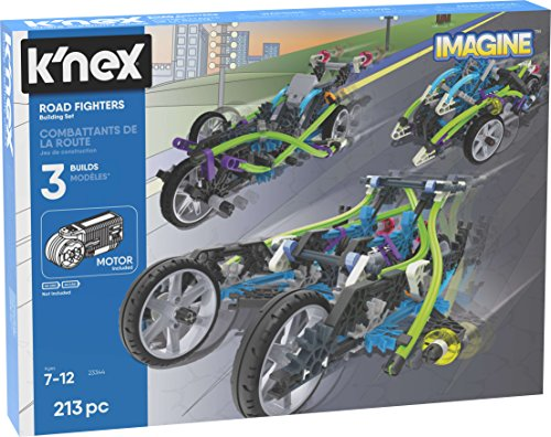 K'NEX Imagine - Road Fighters Building Set - 213Piece - Ages 7+ - Engineering Educational Toy Building Set (Amazon Exclusive)