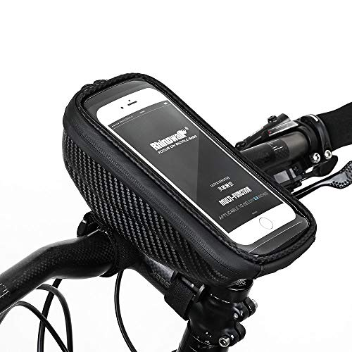 Vélo Sac Imperméable À L'Eau 6,5 Pouces Porte-téléphone Eva Hard Shell Bike Bag Shockproof Bike Top Tube Bag Handlebar Bag Accessoire De Vélo
