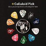 Celluloid Gitarren Plektren von Donner Gitarren Picks 4 verschiedene Stärke 16 Stück - 7