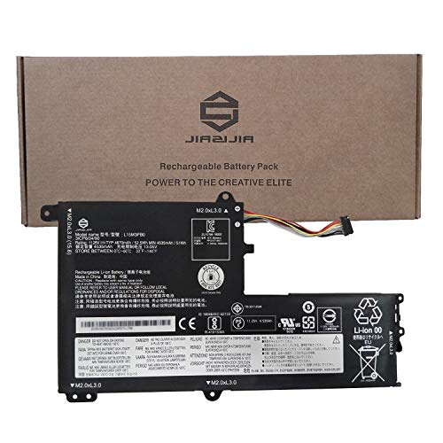 JIAZIJIA L15M3PB0 Laptop Battery Replacement for Lenovo IdeaPad 330S-14AST 330S-14IKB 330S-15ARR 330S-15AST 330S-15IKB Series Notebook Type-B L15L3PB0 Black 11.25V 52.5Wh 4670mAh 3-Cell