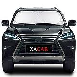 ZACAR Windshield Sun Shade, 210T Car Sun Shade Keep Your Vehicle Cool, Foldable Sunshade for Car Windshield Will Provide Maximum UV and Sun Protection