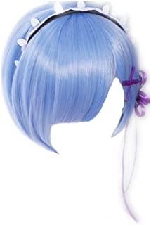 COSPLAZA Cosplay Wigs Fashion Short Blue Anime Hair Fancy Girl Party Wig
