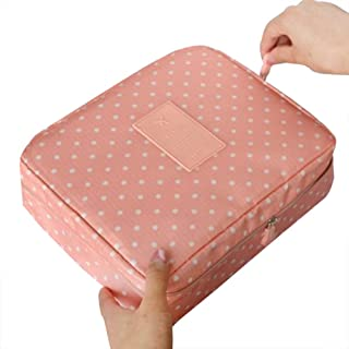 COODIO Multifunction Portable Cosmetic Bag with Zipper for Travel Storage for Fashion Jewelry