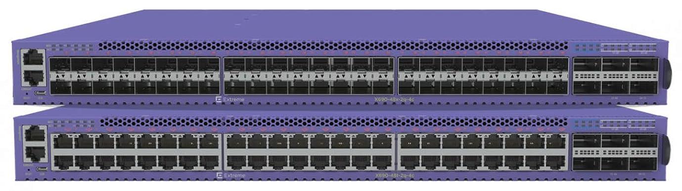 モーション散るクッションExtreme Networks ExtremeSwitching X690-48x-2q-4c イーサネットスイッチ