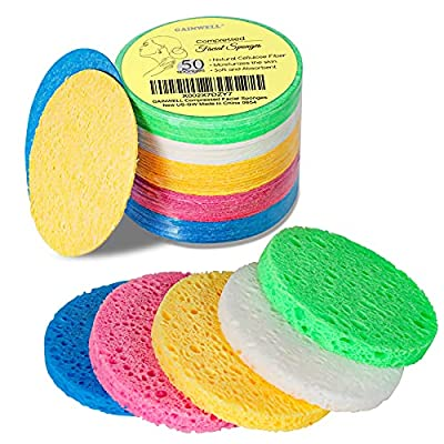 Amazon - 15% Off on 5-Colored Natural Compressed Facial Sponges, for Facial Cleansing, Reusable & Eco-Friendly, 50 PCS