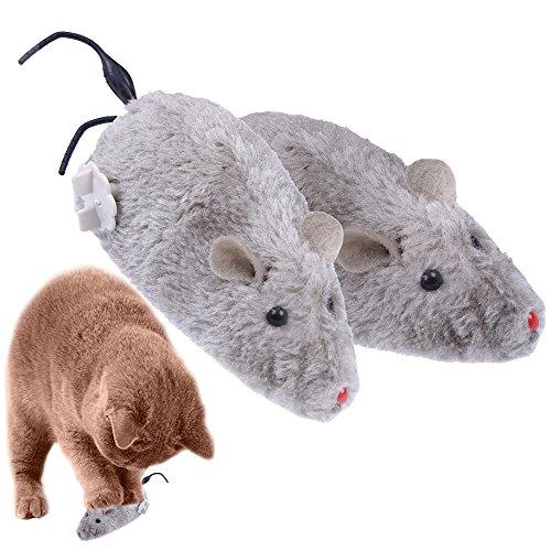 Yunt pour Chat Chaton Fun Souris en Peluche Rat Souris Jouet pour Temps de Jeu interactif Couleur aléatoire