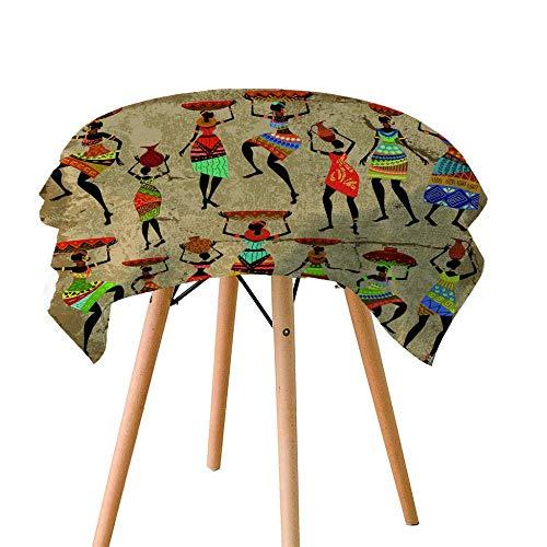 Haoshuai - Mantel impermeable de fibra de poliéster lavable, para jardín, cocina al aire libre o interior, 120 x 120 cm