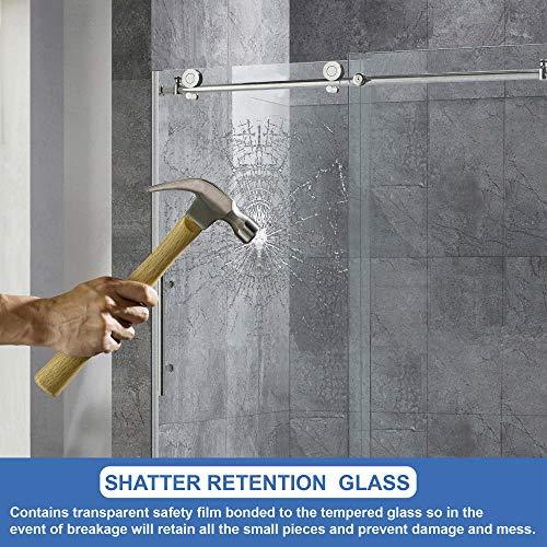 best frameless hinged shower doors