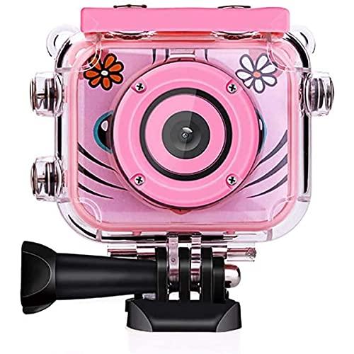 Beste Kinder Underwater Camera 1080P HD Digitale Foto Videocameras Onderwater ActionCamera Oplaadbare Action Camera Waterdichte Videocamera voor Verjaardagscadeau (Pink)