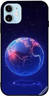 حافظة واقية لآبل آيفون 12 6.0 بوصة نمط الكرة الأرضية الأزرق