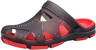 Summer Men Flip Flop Sandal Casual Outdoor Non-Slip Beach Slipper Bath Slippers Slippers Black Red 40-45