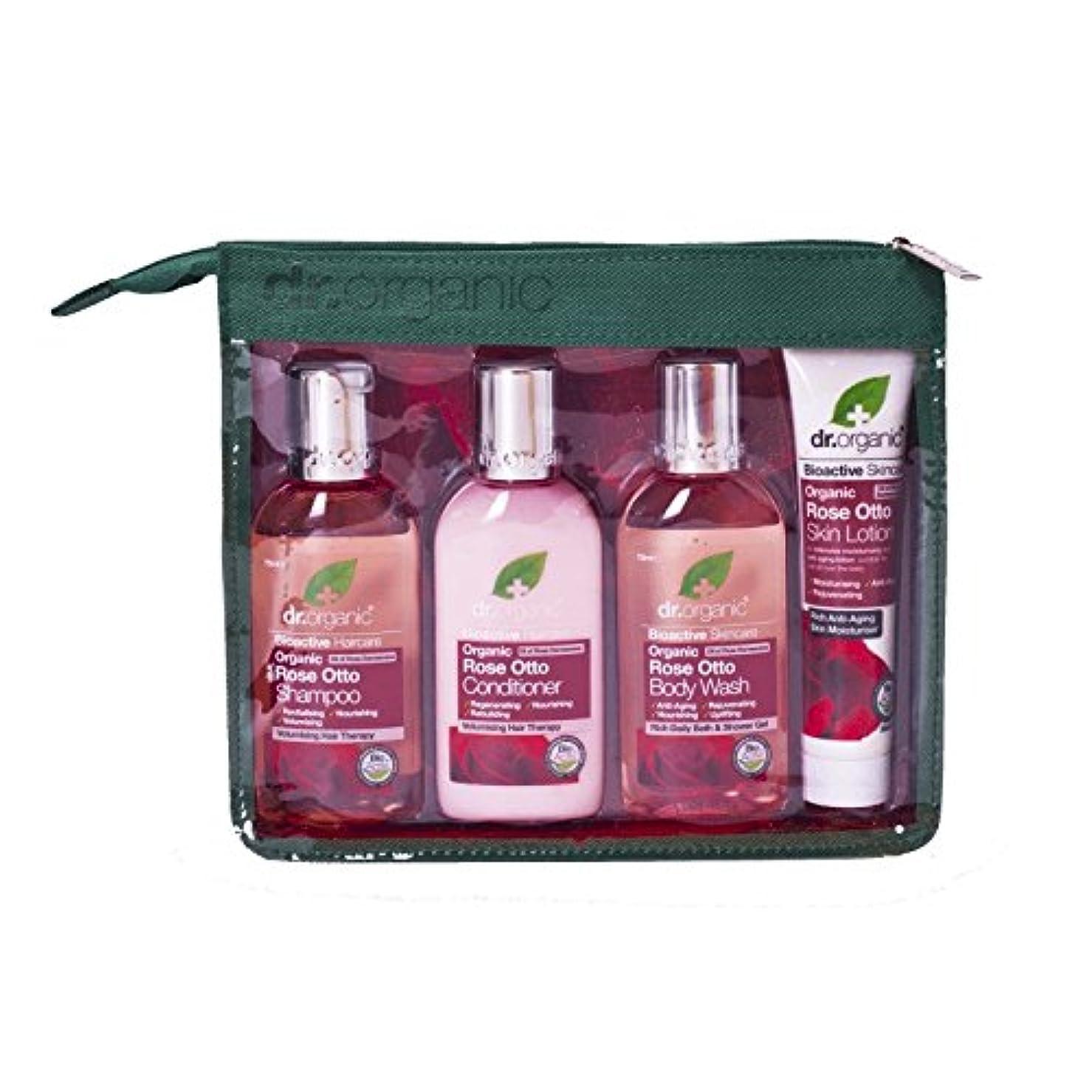 欠員ディベート寝室Dr Organic Rose Otto Mini Travel Pack (Pack of 2) - Dr有機ミニ旅行パックをオットーローズ (x2) [並行輸入品]
