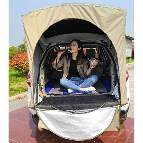 LLSS Dachzelt Auto Hinterzelt Außendachausrüstung Camping Baldachin Heck Ledger Picknick Markise Für Peugeot 3008 Nur Für SUV Khaki