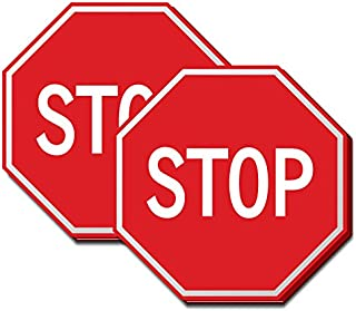 Road Sign, Stop Sign Sticky Note, Write Your Own Messages for Fun or Work 2 Pack