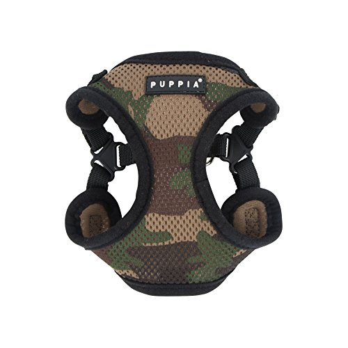 Puppia PARA-HC1533-CA-M Camo Soft Harness C Pet-Vest-Harnesses, MEDIUM