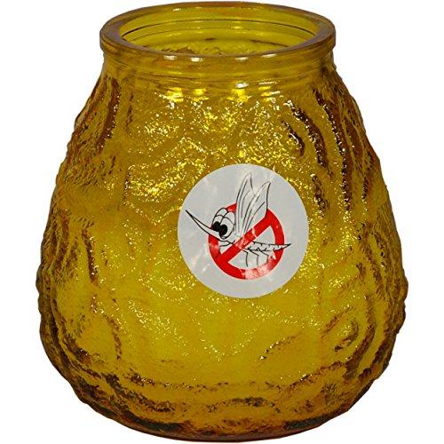 Admit CITRONELLA Kerze im Glas Anti-Mosquito Mückenschutz (Gelb)