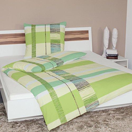 Janine Design Soft-Seersucker Bettwäsche 2377-06 1 Bettbezug 135 x 200 cm + 1 Kissenbezug 80 x 80 cm