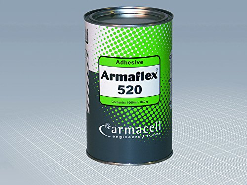 Armaflex 520 Adhesive (1ltr) for Armaflex Class O Insulation Sheets and Tubes, 1 litre Tin by Armaflex