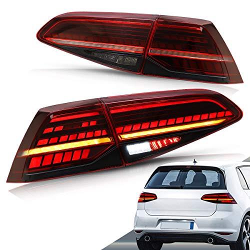 VLAND LED Rückleuchten für 2013-2019 Golf 7 MK7 MK7.5 VII Rücklichter mit sequentieller blinker
