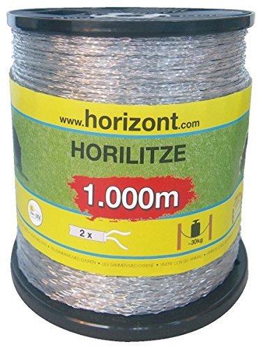 Horizont 15833 Dederonlits -horiliet-strengen voor wilgen- en elektrische hekken, diameter 1,4 mm, 1000 m spoel, transparant