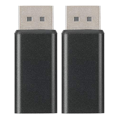 PUSOKEI Adaptador DisplayPort a HDMI de 2 Piezas, Adaptador DP a HDMI (Macho a Hembra) con Conector Dorado, Espejo de Soporte y Modos de expansión, convertidor para PC HDTV 1080P