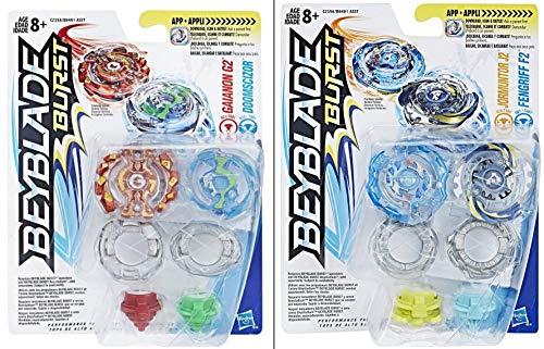 Beyblade Burst 2X Doppelpack = 4 Kreisel, Mehrfarbig
