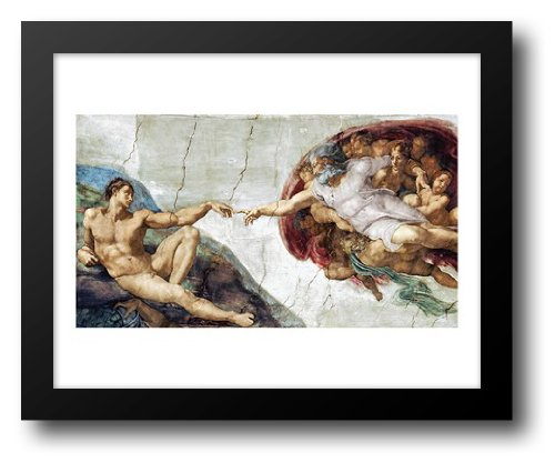 The Creation Of Adam 18x15 Framed Art Print by Buonarroti, Michelangelo