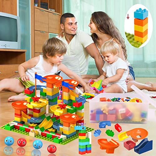 Jiudam ビーズコースター 知育玩具 スロープ ルーピング セット 子供 組み立 DIY 積み木 男の子 女の子 誕生日のプレゼント 立体パズル ビー玉転がし ブロック おもちゃ