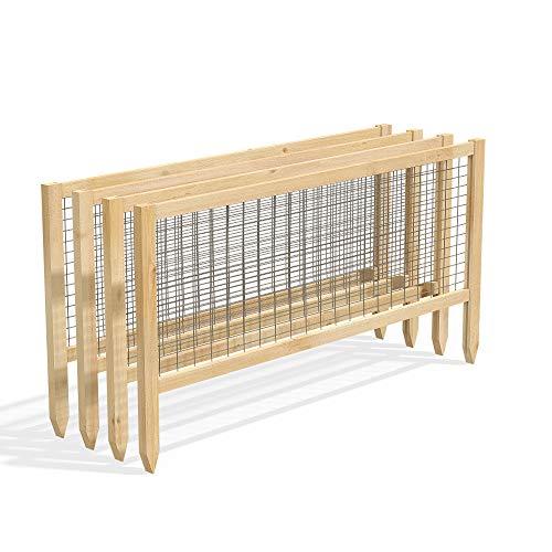 Greenes Fence RCCG4PK CritterGuard Cedar Garden Fence, Pack of 4, 23.5'