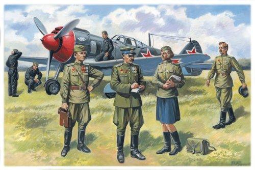 ICM 1:48 – Pilotes soviétiques et Personnel au Sol (1943–1945).