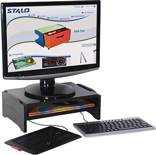 Stalo 8553 - Suporte Monitor Modular, Preto, 355 x 60 x 240 mm