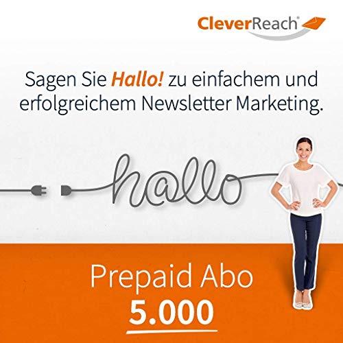 CleverReach Newsletter Software, Email Marketing Automation, Prepaid Abo 5.000,Web Browser, Kostenfreies Probeabo
