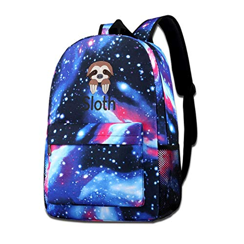 Zxhalkhfd Sloth Travel Backpack College School Business Blue One Size