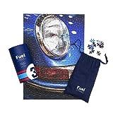 Luckies of London Puzle de Combustible – Rompecabezas Inspirado en Carreras motoras, Azul, 34 x 58cm