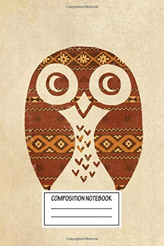 Composition Notebook: Vintage Posters Navajo Owl Birds Of A Feather Wide Ruled Note Book, Diary, Planner, Journal for Writing